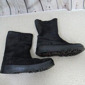 Prada Boots Womens Size 39.5 Black Seude